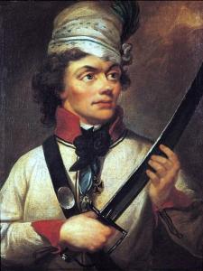 Kolorowy portret Tadeusza Kościuszki