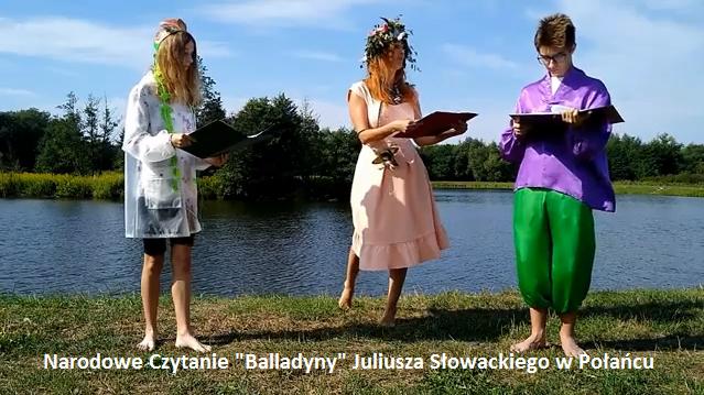 """Link do filmu Narodowe Czytanie """"Balladyny"""" Juliusza Słowackiego w Połańcu"""