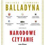 """Link do artykułu Narodowe Czytanie """"Balladyny"""" J. Słowackiego"""