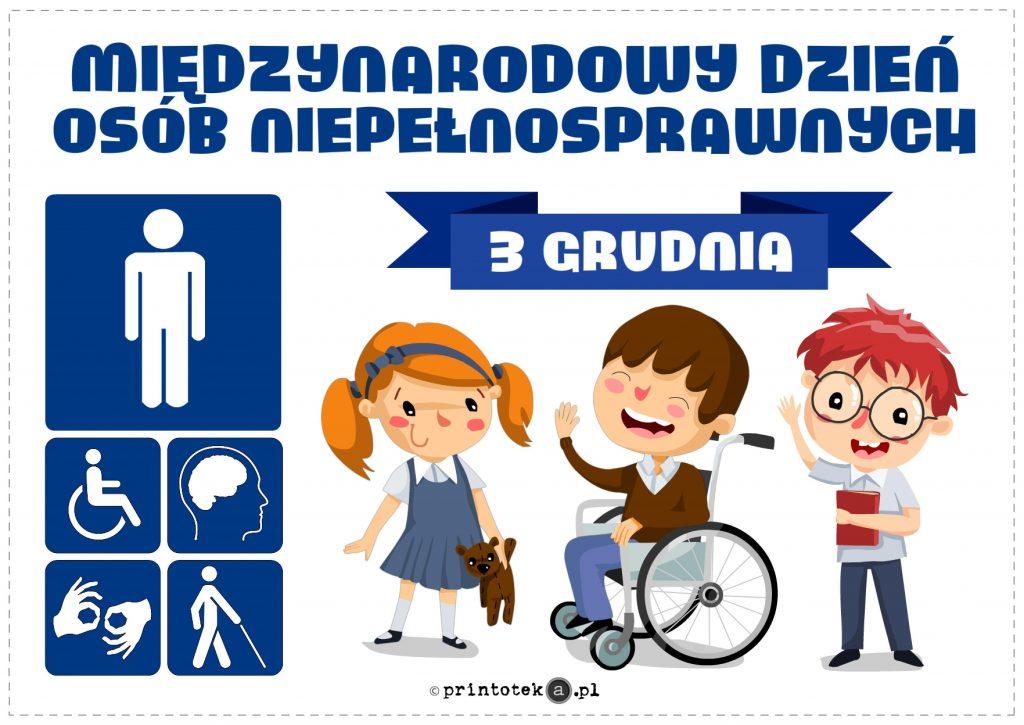 Plakat z okazji Międzynarodowego Dnia Osób Niepełnosprawnych